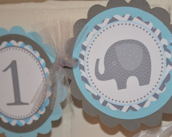 Elephant, I am one banner, i'm 1, elephant banner, mod elephant banner, in light blue and grey, mod elephant