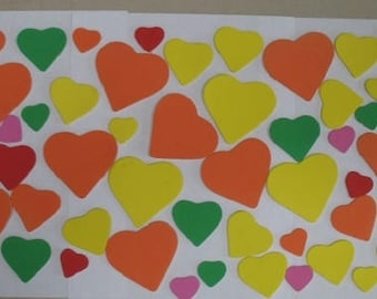 Foam Stick-On Hearts for Art and Craft