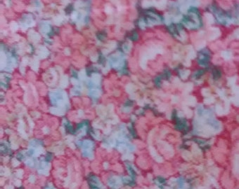 FABRIC/PINK/BLUE/Floral/One and Half Yard piece