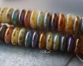 Over the Rainbow, Disc Beads, Czech Beads, Beads, N1856