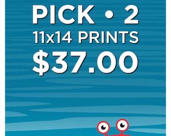 PICK ANY (2) 11x14 PRINTS