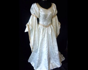 MADE to ORDER Renaissance Fantasy  Wedding Bridal Gown Accolade Dress, Your Size