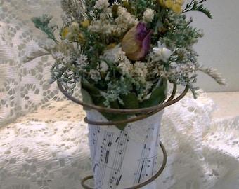 Dried flower art, Rustic home decor, flower arrangement, primitive decor, country decor, farmhouse decor, kitchen decor