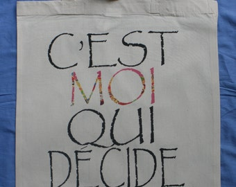 French philosophical tote shopper