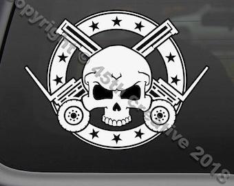 Skull Decal Etsy