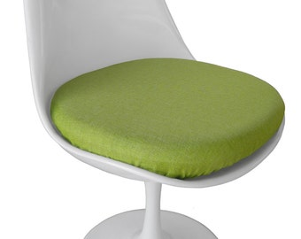 Slip On Cushion Cover For Saarinen Tulip Side Chair   Poly Linen