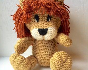 Toy Lion, Crochet Toy Lion, Lion Toy, Crochet Lion, Arigurumi Lion, Handmade Crochet Stuffed Toy Lion, Handmade Lion, Handmade Toy Lion