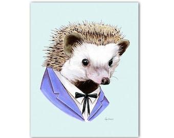 Hedgehog art print 5x7