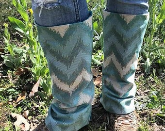 NEW **Boot Blankets-Turquoise Chevron Boot Blankets