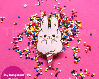 Cottontail Candy - Hard Enamel Pin - Cotton Candy Bunny