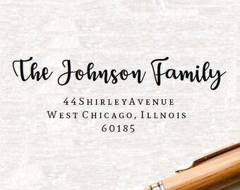 Self Inking Address Stamp, Custom Address Stamp, Return Address Stamper, Personalized Address Stamp, Wedding Stamper, Family Stamp, Style 64