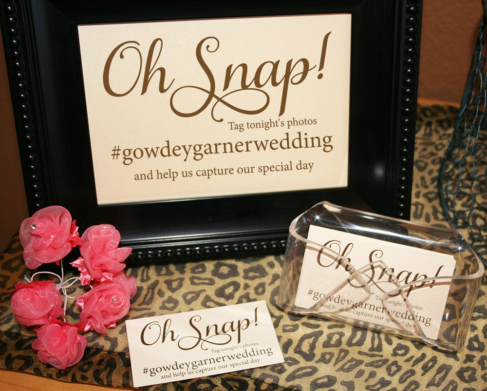 Instagram Sign, Hashtag Sign and Tags, Wedding Instagram, Social ...