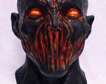 Brimstone Demon Halloween Lava Devil Adult Sized Mask