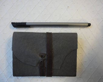 A7 Grey Soft leather journal