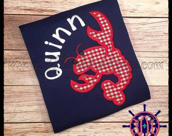 Crawfish Applique Shirt, Child's Crawfish Applique Shirt