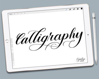 Procreate Brush, Calligraphy, brush lettering, Calligraphy, Procreate Brush, Procreate Brushes, Procreate Brushes, Single Brush