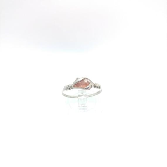 Rough Gemstone Ring | Raw Oregon Sunstone Ring | Sterling Silver Ring Sz 10 | Red Oregon Sunstone | Raw Stone Engagement Ring