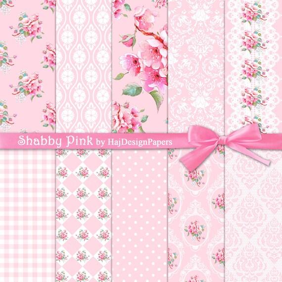 shabby chic papier num rique shabby rose floral. Black Bedroom Furniture Sets. Home Design Ideas