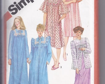 Simplicity Pattern # 5330 from 1981:  Misses Pullover Nightgown, Bed Jacket and Robe  Bust 32 1/2-34