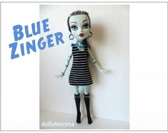 "Monster High 17"" Doll Clothes - Dress + Stockings + Jewelry - Handmade custom fashion by dolls4emma"