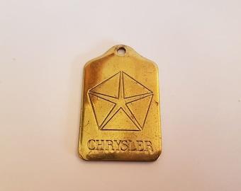 chrysler keychain keytag key chain vintage