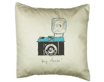 Diana F+ 'Say Cheese' Camera Cushion