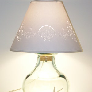 Fill Your Own Recycled Glass Lamp & Hand cut Lampshade-Fillable-Lamp-Fill