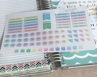 LDS Planner Stickers -- Made to fit the Mormon Mom Planner