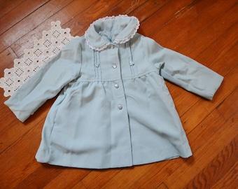 Vintage Girl's Light Blue Jacket Size 4T - Weather Tamer