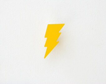 Lightning Bolt , Wall Hooks , Kids Coat hooks, Nursery Wall Decor, Boy & Girl Room Decoration /