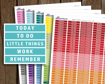 Daily Headers Planner Stickers | PRINTABLE Instant Download | MDN Header Planner Sticker | fits Erin Condren or Happy Planner | Remember
