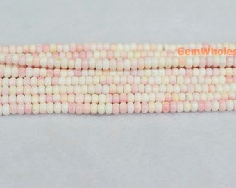 """15"""" 4x6mm Blush Pink Queen Conch shell rondelle Beads,  jewelry supply,Natural Pink Queen Conch shell round beads, pink shell beads"""