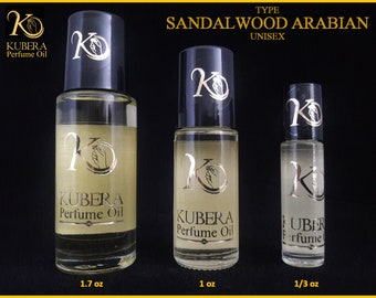Type Sandalwood Arabian perfume in oil for both 1/3oz 1oz 1.7oz