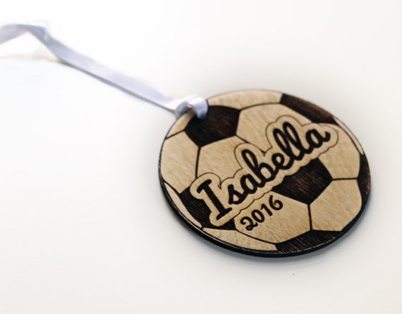 Personalized Soccer Ball Christmas Ornament Gift for Soccer