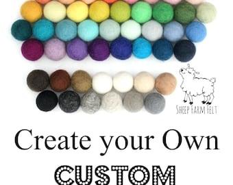 Pom Pom Garland- Customize your own Garland- 56 colors- Nursery Decor- Garland- Felt Ball garland- Felt Ball Nursery Garland