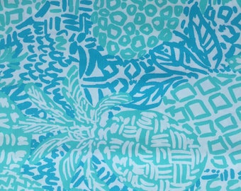 """seaside aqua home slice dobby cotton fabric square 18""""x18"""" ~ lilly spring 2017 ~ lilly pulitzer"""