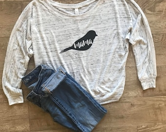 Mama Bird Shirt. Unique Gift for Mom. Pregnancy Announcement Shirt. Mama Shirt. Mothers Day Gift. Baby Shower Gift. New Mom Shirt