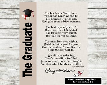 Graduation Gift, 2018 Graduation, Graduation Poem, University Graduation Gift, University Graduation Print, Graduation Poem,Instant Download