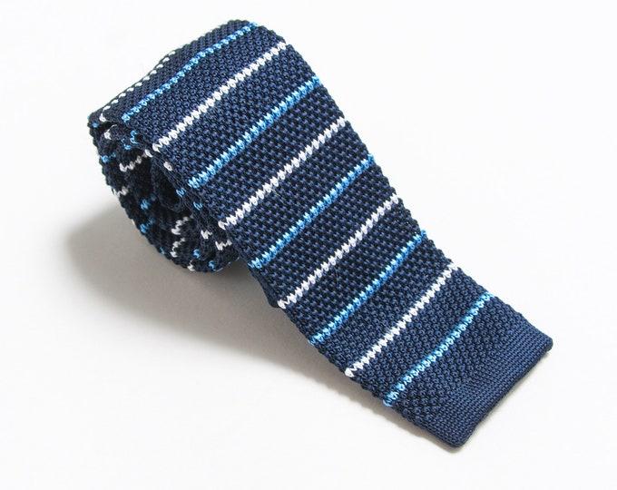 "The ""Boulevardier"" Striped Knit Tie."