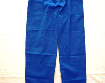 Vintage Alfred Sung Designed Trousers Pleated Uniform Pants Pockets Copen Blue 1980s Girl Guides of Canada Official Uniform Guide Scouts