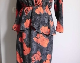 80s evening dress made in France
