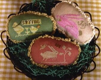 Spring Eggs I~Cross Stitch Pattern