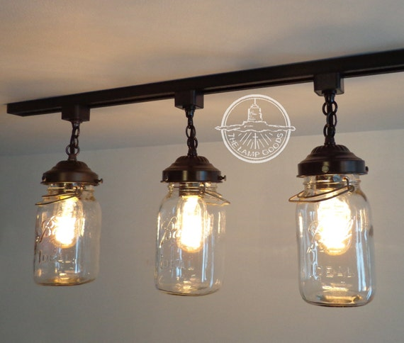 Flush mount ceiling light mason jar track lighting fixture like this item mozeypictures Image collections