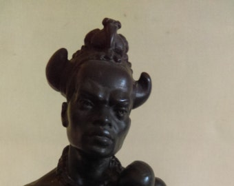 Mid Century Modern African Statue