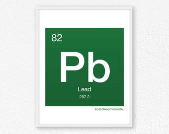 Periodic table lead etsy 82 lead periodic table element periodic table of elements science wall art urtaz Gallery