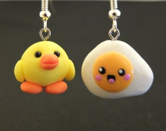 Chick and Egg Earrings