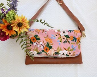 Floral Coral Cross-Body (Rifle Paper Co.)