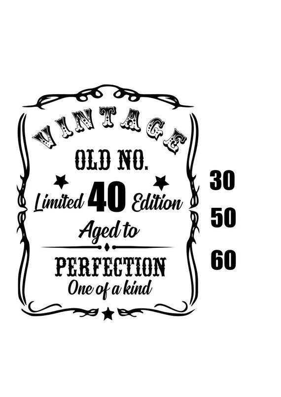 aged to perfection 30 40 50 and 60 svg birthday svg
