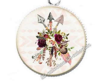 Ethnic Dreamcatcher av34 flowers resin pendant cabochon