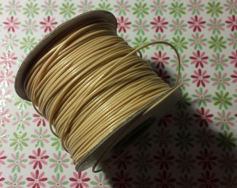 1 meter of waxed cord ivory / beige 1 mm